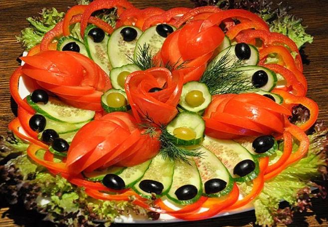 Как украсить блюда с помощью овощей