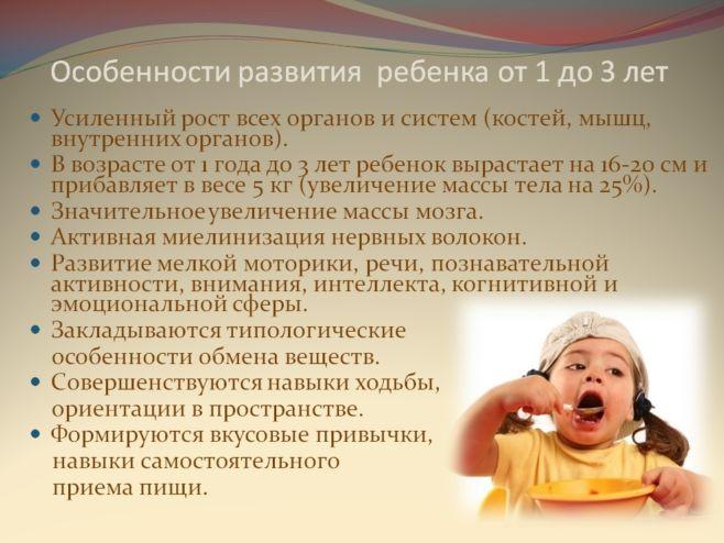 Режим питания ребенка старше 1 года