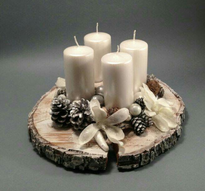 Как сделать рождественскую свечу