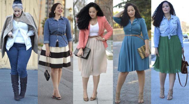 Что носить полным девушкам