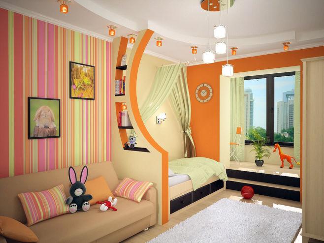 Дизайн комнаты для разнополых детей