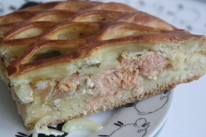 Пирог из рыбы - рецепт