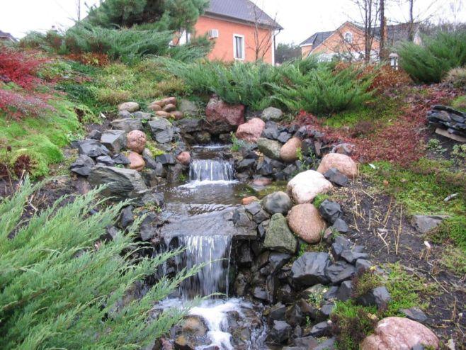 Как построить ручей на садовом участке