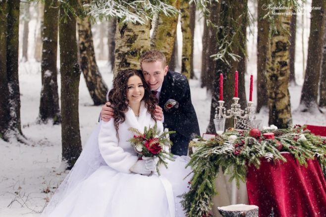 Как отмечать свадьбу зимой