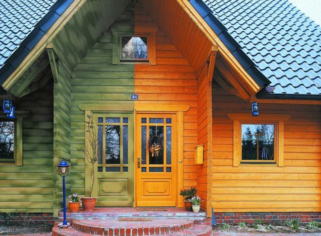 Как покрасить дом зимой